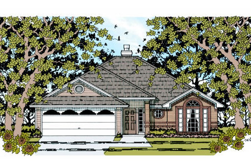 Traditional Exterior - Front Elevation Plan #42-355 - Houseplans.com