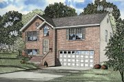 Colonial Style House Plan - 4 Beds 3 Baths 1614 Sq/Ft Plan #17-3235 Exterior - Front Elevation