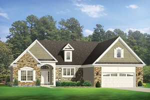 Ranch Exterior - Front Elevation Plan #1010-141