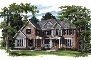 Colonial Exterior - Front Elevation Plan #927-203