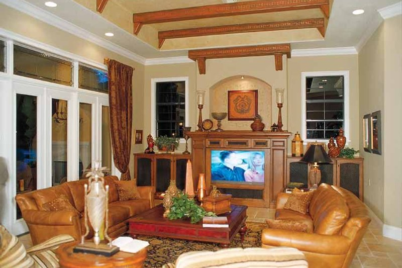 Mediterranean Interior - Family Room Plan #417-566 - Houseplans.com