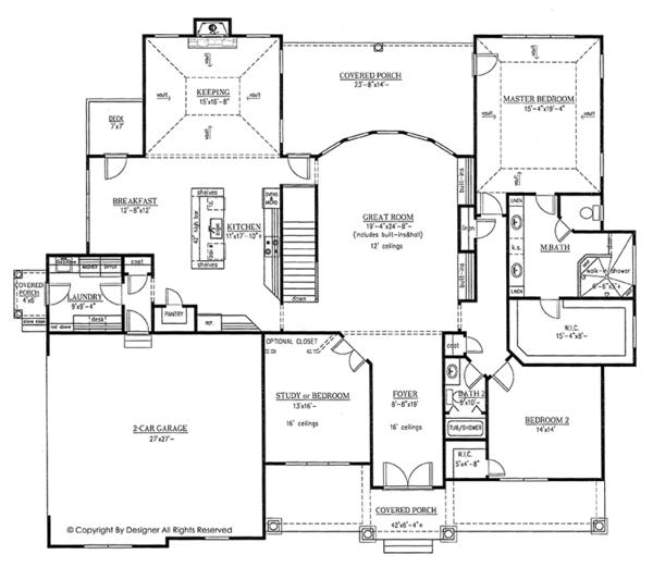Home Plan - Traditional Floor Plan - Main Floor Plan #437-73