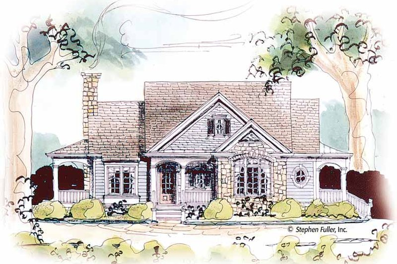 Country Exterior - Front Elevation Plan #429-434 - Houseplans.com