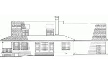 Southern Exterior - Rear Elevation Plan #137-245