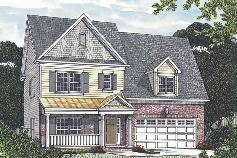 Traditional Exterior - Front Elevation Plan #453-528 - Houseplans.com