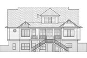 Southern Style House Plan - 4 Beds 3.5 Baths 3435 Sq/Ft Plan #1054-19 Exterior - Rear Elevation