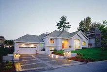 Dream House Plan - Mediterranean Exterior - Front Elevation Plan #47-869