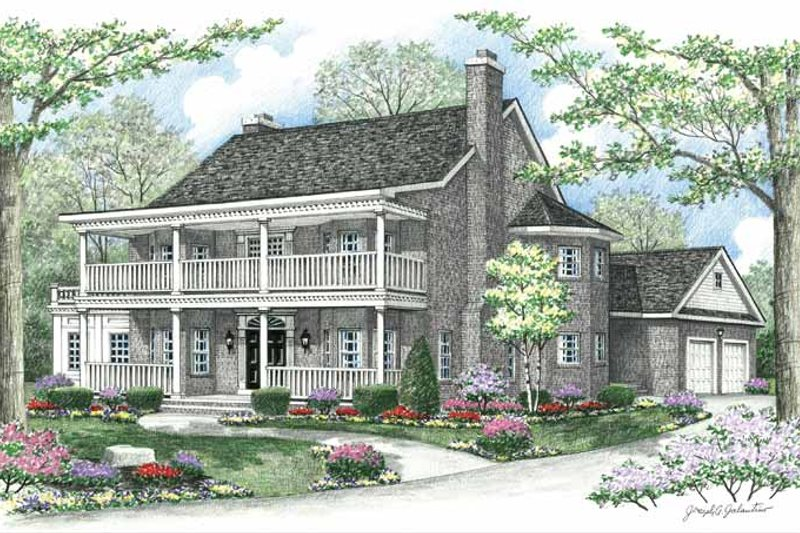 Country Exterior - Front Elevation Plan #1002-9