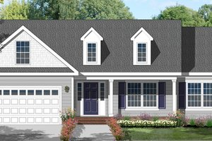 Architectural House Design - Colonial Exterior - Front Elevation Plan #1053-17