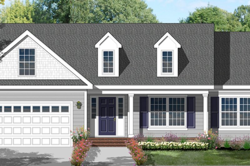 Colonial Exterior - Front Elevation Plan #1053-17 - Houseplans.com