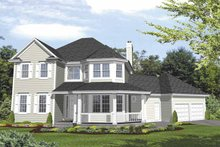Dream House Plan - Country Exterior - Front Elevation Plan #320-841