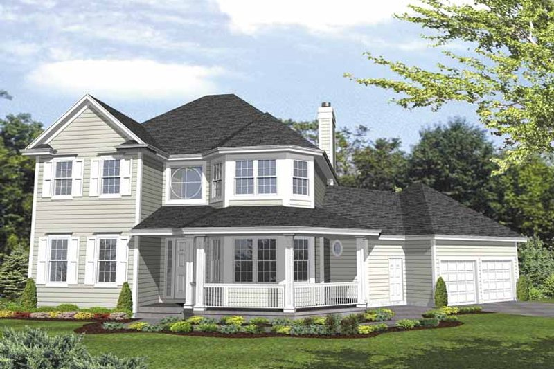 Country Exterior - Front Elevation Plan #320-841