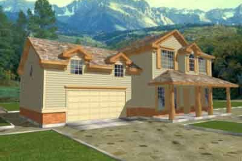 Traditional Exterior - Front Elevation Plan #117-201 - Houseplans.com