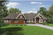 Dream House Plan - Craftsman Exterior - Front Elevation Plan #48-652