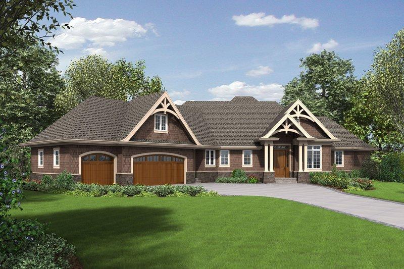 Craftsman Exterior - Front Elevation Plan #48-652