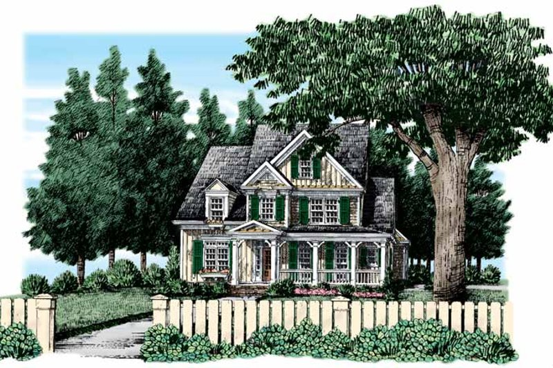 Country Exterior - Front Elevation Plan #927-319