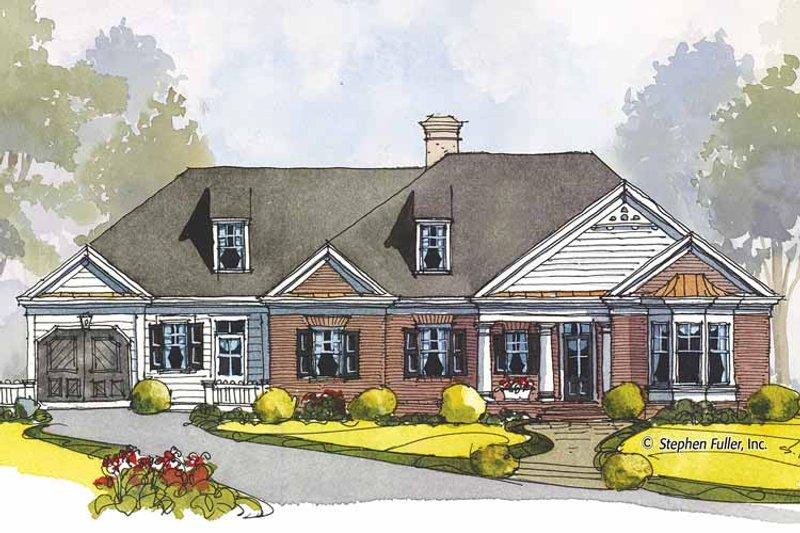 Colonial Exterior - Front Elevation Plan #429-440 - Houseplans.com