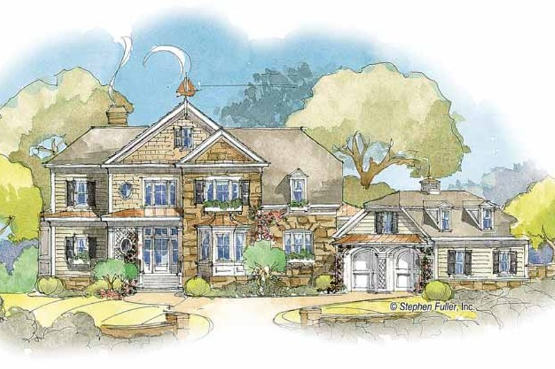 Country Exterior - Front Elevation Plan #429-349 - Houseplans.com