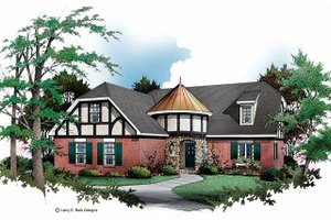 Architectural House Design - Tudor Exterior - Front Elevation Plan #952-156
