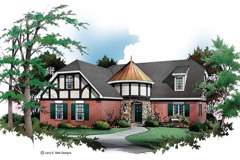 Tudor Exterior - Front Elevation Plan #952-156