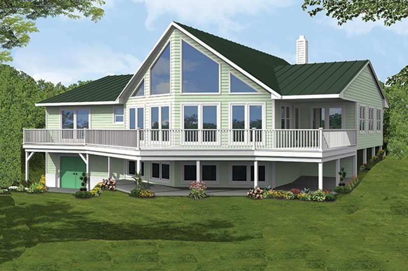 Architectural House Design - Country Exterior - Rear Elevation Plan #1061-12
