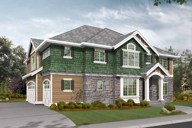 Craftsman Exterior - Front Elevation Plan #132-374 - Houseplans.com
