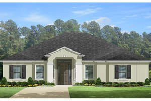 Mediterranean Exterior - Front Elevation Plan #1058-128