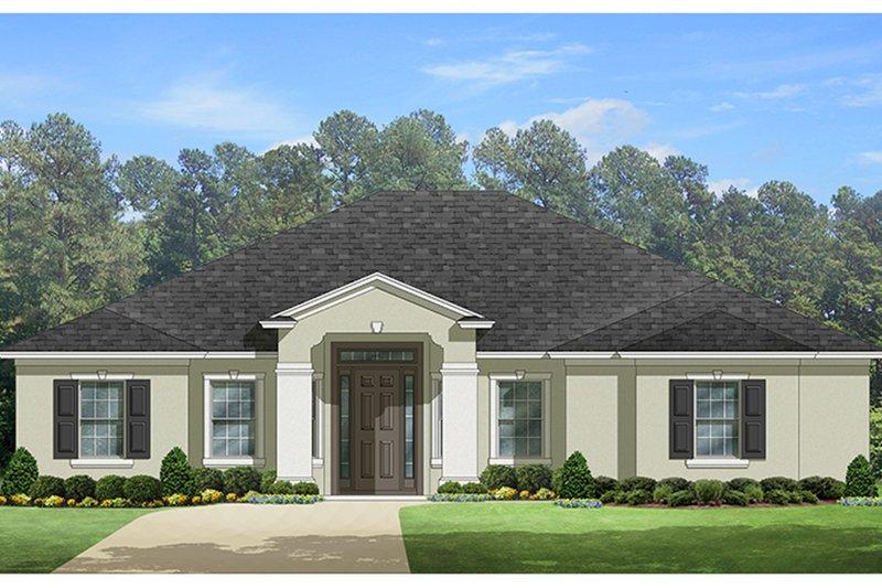 House Plan Design - Mediterranean Exterior - Front Elevation Plan #1058-128