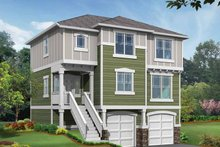 Dream House Plan - Craftsman Exterior - Front Elevation Plan #132-288