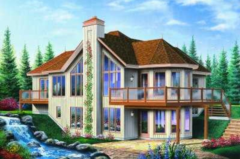 Dream House Plan - Modern Exterior - Front Elevation Plan #23-389