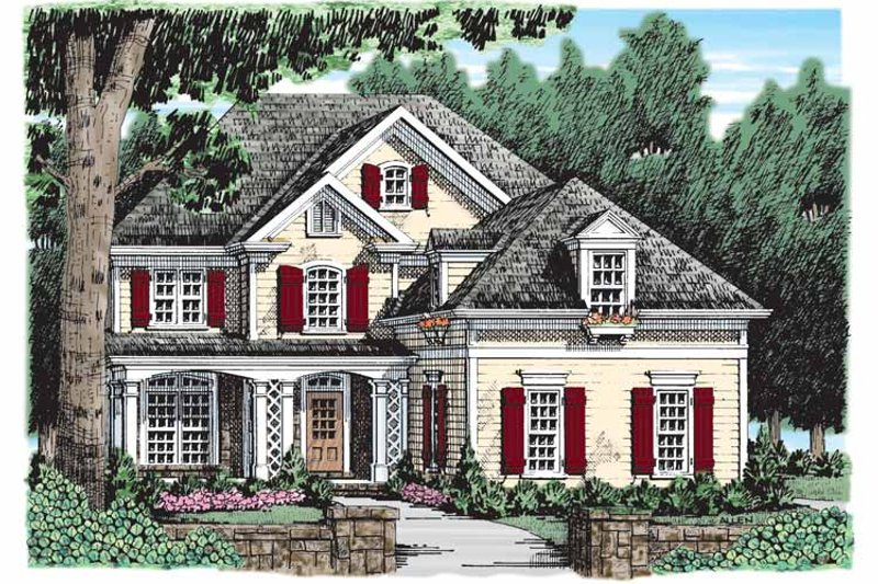 Country Exterior - Front Elevation Plan #927-913