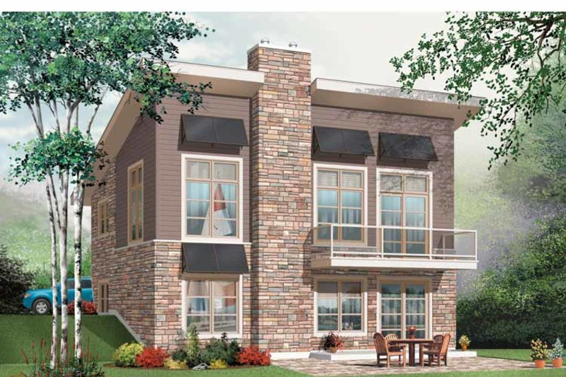 Contemporary Exterior - Front Elevation Plan #23-2425 - Houseplans.com