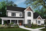 Country Style House Plan - 4 Beds 3.5 Baths 2628 Sq/Ft Plan #23-2131 Exterior - Front Elevation