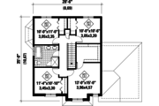 European Style House Plan - 4 Beds 1 Baths 1927 Sq/Ft Plan #25-4491 Floor Plan - Upper Floor Plan