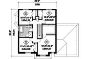 European Style House Plan - 4 Beds 1 Baths 1927 Sq/Ft Plan #25-4491