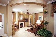 Architectural House Design - Country Interior - Family Room Plan #952-182