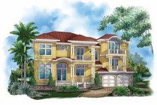 House Plan Design - Mediterranean Exterior - Front Elevation Plan #1017-136