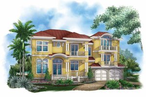 Mediterranean Exterior - Front Elevation Plan #1017-136