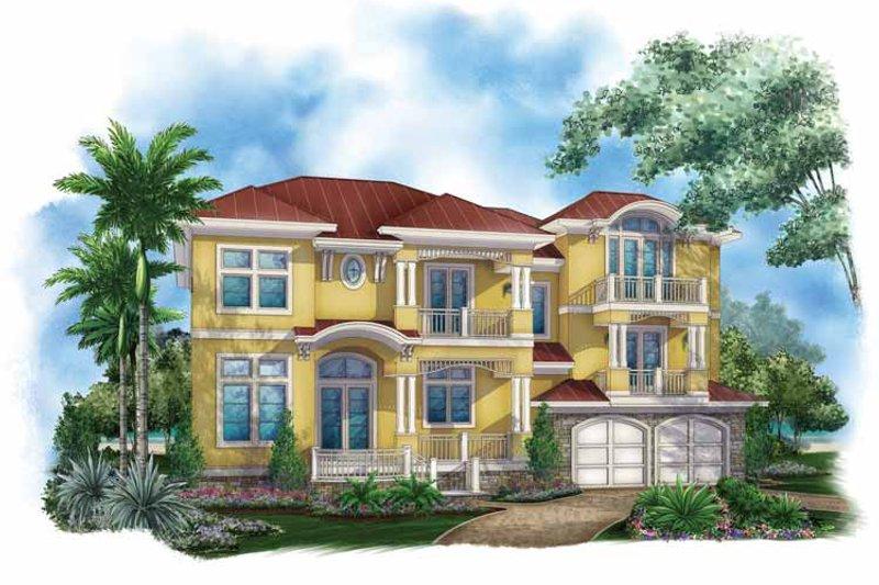 Dream House Plan - Mediterranean Exterior - Front Elevation Plan #1017-136