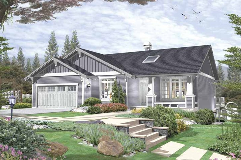 Dream House Plan - Craftsman Exterior - Front Elevation Plan #48-759