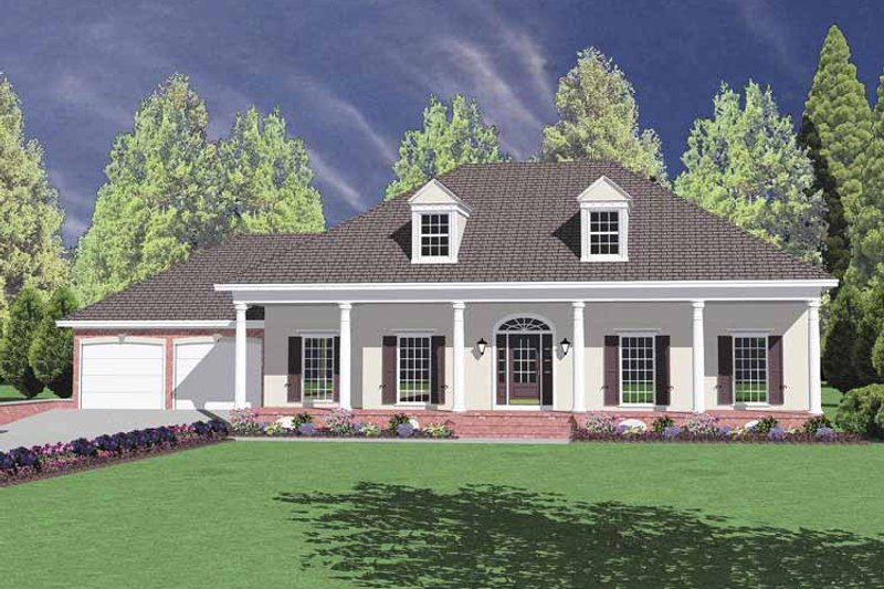 Classical Exterior - Front Elevation Plan #36-537 - Houseplans.com