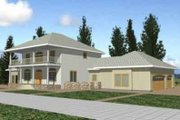 Southern Style House Plan - 3 Beds 3 Baths 2538 Sq/Ft Plan #117-236 Exterior - Front Elevation
