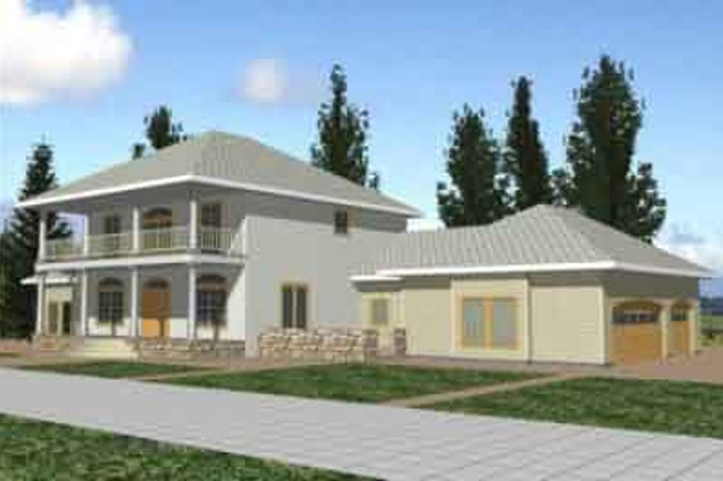 Dream House Plan - Southern Exterior - Front Elevation Plan #117-236