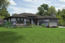 Architectural House Design - Contemporary Exterior - Front Elevation Plan #48-1016