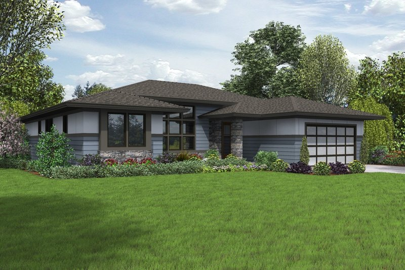 Home Plan - Contemporary Exterior - Front Elevation Plan #48-1016