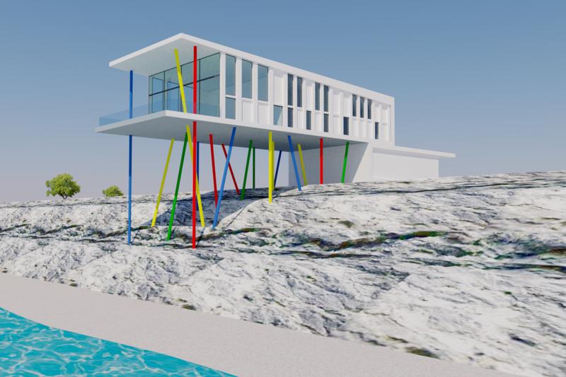 House Plan Design - Contemporary Exterior - Front Elevation Plan #542-21