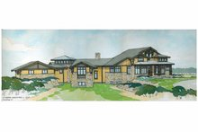 Architectural House Design - Prairie Exterior - Front Elevation Plan #928-62