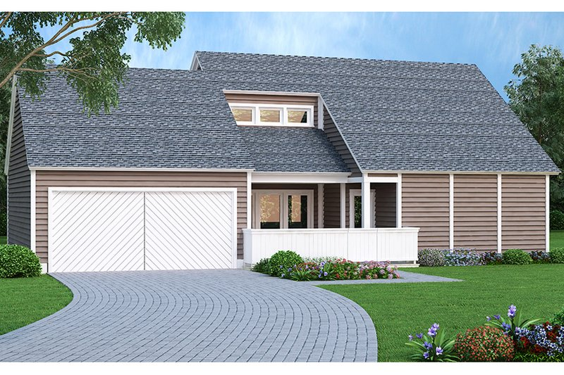 Contemporary Exterior - Front Elevation Plan #45-526