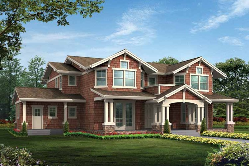 Craftsman Exterior - Front Elevation Plan #132-475 - Houseplans.com
