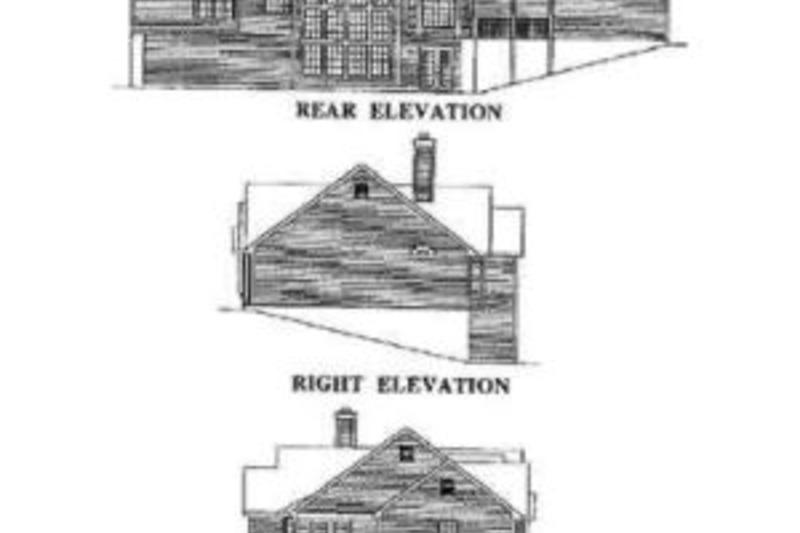 Country Exterior - Rear Elevation Plan #57-131 - Houseplans.com